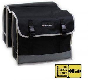 Double sacoche Dunlop pour porte-bagage de vélo – Résistante aux intempéries