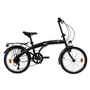 E.DE.N. Bikes Velo 20» Pliant – 6 Vitesses Equipe Garde Boue ET Porte Bagages