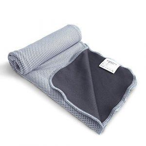 Gogogo Sport abkühl en tissu toucher Courir Gym répondant à froid doux froide Pad, Adulte (unisexe), gris