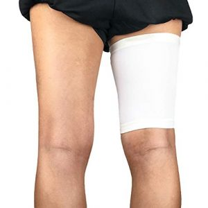 Gracorgzjs Sport Unisexe Compression Jambe Protector Bandage Cuisse Support Extensible Manches M Blanc
