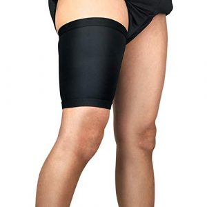 Gracorgzjs Sport Unisexe Compression Jambe Protector Bandage Cuisse Support Extensible Manches XL Noir