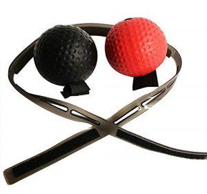 GreatFunBalle de réflexe de Boxe, balles de Vitesse de Niveau avec Le Bandeau, amélioration de la Boxe de Frappe de Poing, entraînement de la Coordination oculaire à la Main Cardio Training
