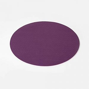 Huikafir Tapis de Danse Rond Tapis de Support Plat Anti-dérapant Tapis de Fitness Yoga Pilates (Violet foncé)