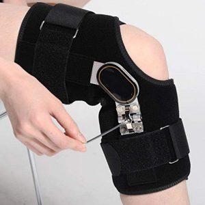 JTIHGNFG arthrite Genouillères réglable Articulation du Genou Fracture Support O-Legs/X-Leg Correction pour Le, Droite, Petit