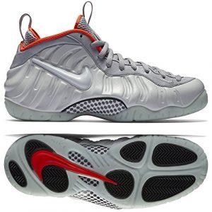 Nike Air Foamposite Pro PRM, Chaussures de Sport-Basketball Homme, Multicolore-Plateado/Gris Pr Pltnm-WLF Gry-Brgh-, 40 1/2 EU