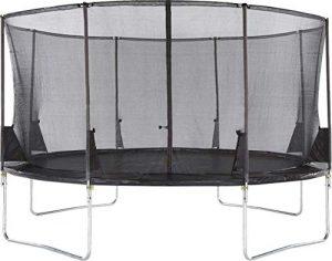Plum Trampoline Space Zone II 420cm avec enclos rétractable Mixte Enfant. Noir
