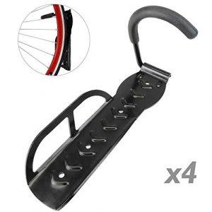 PrimeMatik – Crochet de Mur pour Suspendre Roue de Bicyclette kit de 4 unités