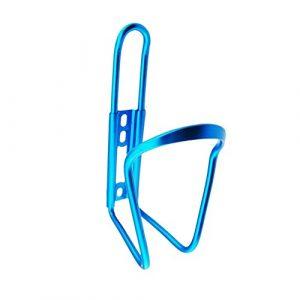 Qifumaer Vélo Porte-gobelet en Alliage d'aluminium Porte-bidon pour vélo de Montagne Vélo Porte-bidon léger Bouteille d'eau Cages, Bleu, 15 * 7.5cm
