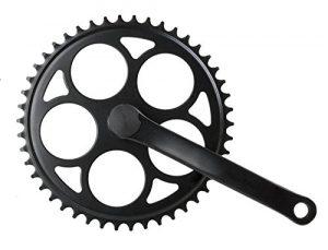 Ridewill Bike Pédalier pignon fixe 46 dents en acier 170 mm Noir