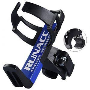 RUNACC Porte-bidon Support Porte Bouteille Bidon pour Vélo Bicyclette VTT Poussette de Bébé Cage Grille 360 Degrés de Rotation (Noir 1)