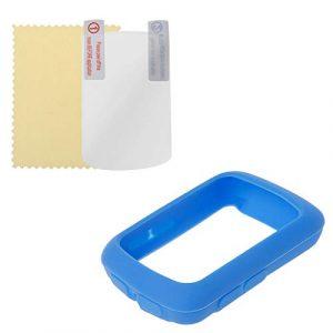 Runrun Housse de Protection élastique Souple en Silicone pour Ordinateur Bryton 410 405, Bleu