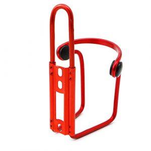 scatkinPYwl Support Porte-Bouteille en Alliage d'aluminium pour vélo, vélo, VTT, Bouteille d'eau Argenté Taille Unique Red