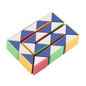 Togames-FR Serpent Magic 3D Cube Jeu Puzzle Twist Toy Party Voyage Famille Enfant Cadeau Bon pour Promouvoir l'intelligence des Enfants