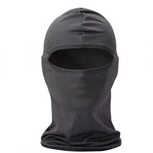 TOOGOO(R) Multifonctionnel Tour de Cou / Casquette pour Velo / Cagoule Masque de Visage Resistant au Vent et a la Poussiere pour Sport, Outdoor, les voyages-Gris