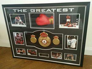 Très RARE Muhammad Ali signé Gant de boxe et CHAMPION du monde de ceinture