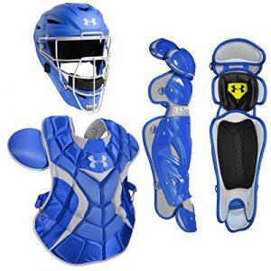 Under Armour Professionnel Adulte Baseball Catcher de Paquet W/Mat Casque, Bleu Marine