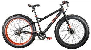Vélos sable et neige MBM FAT MACHINE 26 «freins à disque (Matt Black/Neon Red)