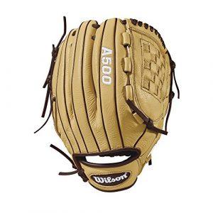 Wilson A50030,5cm Jeunesse Gant de Baseball: Wta05rb1812, Homme, 2018 A500tm 12″ Glove – Right Hand Throw, Blonde/Dark Brown