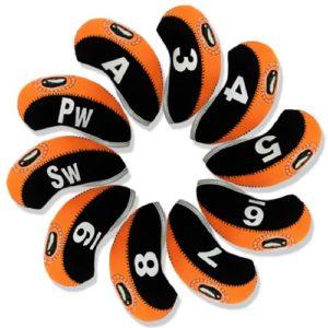 Andux capuchon fer de golf 10pcs noir/orange MT/s02 avez numéro