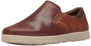 Dunham Men's Colchester Slipon Fashion Sneaker, Brown, 8 4E US