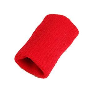 Latin Aric 10pcs Volley-ball Basket-ball Finger Bandages pour les doigts Coudières protection doigt schutzen, Rot