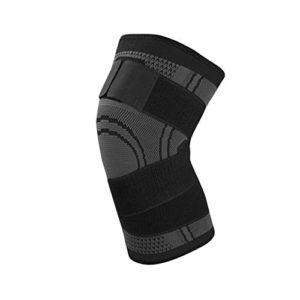 Pressurized Fitness Bandage Knee Support Brace Sports Compression Pad Sleeve black M