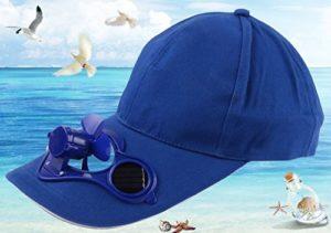 Annedenn Solaire Casquette d'été extérieur Chapeau Camping Casquette de Baseball Chapeau Air Fan Chapeau (Bleu)