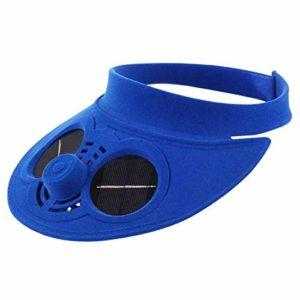 ArKone Extérieur Casquette Baseball avec Énergie Solaire Ventilateur de Refroidissement pour Voyage Cyclisme – Bleu