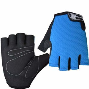Hrph Mountain Bike Riding Géant Demi-Doigt Courte Gants Sports de Plein air Fitness Spinning Finger Moitié