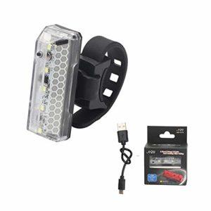 iBàste Lumière arrière de Bicyclette de vélo, lumière arrière de vélo de Sport de LED USB Rechargeable, Voyant de Sac à Dos de Casque LED Avertissement de sécurité lumière stroboscopique