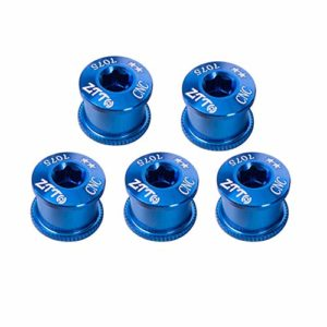 5PCS/SET Aluminum Alloy Chainring Bolt Bicycle Chainwheel Screws for Crankset blue