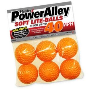 Chauffage de Sports PowerAlley Lite-Balls Souple (Lot de 6)