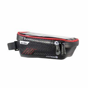 Generic E2 Vélo Écran Tactile Cadre Téléphone Sac De Vélo De Montagne Étanche Poignée Bar Sac Tube Avant Tube pour Smartphone GPS Cas – Rouge