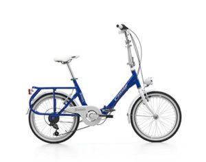 Cicli Cinzia Citybike Sixtie's Vélo Pliable pour Adulte 6Vitesses Revo Shift Freins V-Brake Aluminium Unisexe Bleu Roues 20Pouces
