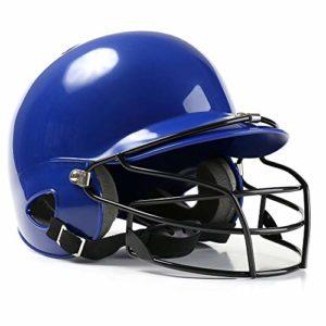 INJOYS Casque de Baseball pour Adultes, Casque de Protection pour la tête, Casque de Softball avec Masque, M003, M003