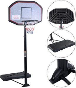 Iunnds Pro, Système de poteau et de panier de basket-ball portable et réglable en hauteur avec panneau de 109,2cm