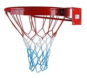 Kimet Panier de basketball avec anneau et filet Diamètre 45cm Qualité et sécurité testées