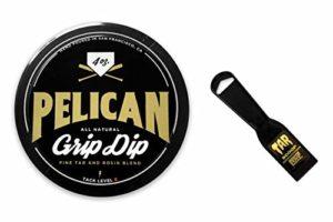 Pine Tar Colophane Grip Dip pour Gant de Baseball, Chauve-Souris, Grip amélioré. Livré avec Une cuillère à Goudron.