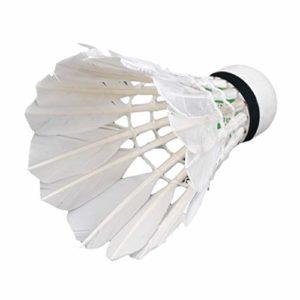 3 x Entraînement Plumes de Canard Blanches Volants de Badminton Birdies Ball Game Jeu de Divertissement Sportif Balles de Badminton avec bidon Blanc WEIWEITOE
