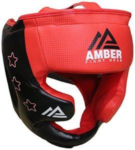 Amber Fight Gear EUHG-S Casque de Boxe Unisex Adult, Multicolore, Small