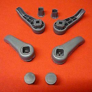 CHANNIKO-UK Paire de poignées de siège pour Renault Clio MK2, kit de tirettes à Levier à Levier de réglage, Couleur: Gris