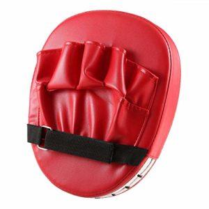 Lesiey Coussin de Cible Flexible pour Le Poing à la Main Taekwondo Sanda Pied Muay Thai MMA Boxe Main Karaté Kung fu Pad – Rouge