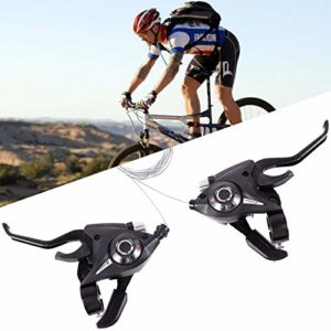 Levier de frein – Jeu de leviers de vitesse avec câble de frein – 7/8 vitesses – Pour vélo de route et VTT