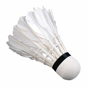 WEIHAN 3 x Entraînement Plumes de Canard Blanc Volants de Badminton Birdies Jeu de Balle Sport Divertissement Produit Balles de Badminton avec bidon