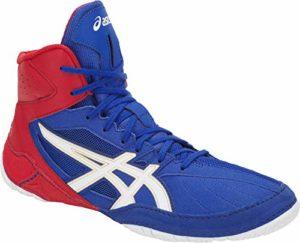 ASICS CAEL V8.0 Chaussures de Boxe et de Lutte – Bleu/Rouge – Taille: 39