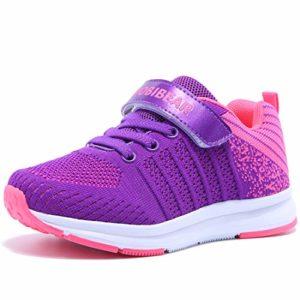Chaussure Enfants Sneakers Garçon Fille Course Sport Runing Shoes Walking Outdoor Compétition Entraînement Rose 28EU