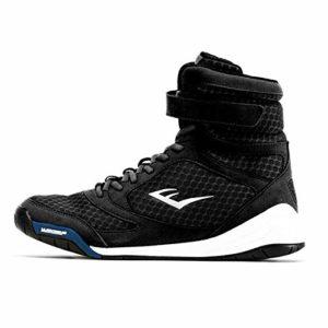 Everlast Pro Elite High Top Shoe, Chaussures de Boxe Mixte Adulte, Noir Black, 43 EU