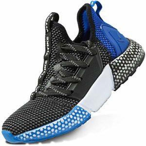 Garçon Fille Chaussures de Course Tennis Sneakers Femme Walking Shoes Baskets Mode Mixte Enfant Running Sneakers(9-Bleu 37EU)