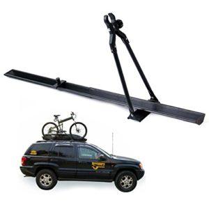 LWYANG Universal Car Roof Bike Carrier Top Mount Rack Vélo Racks Voyage À L'extérieur 150 cm Fit for M Accessoires de vélo
