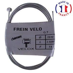VELOX Cable de Frein arrière Embout vélo VTT VTC Ville Universel Acier Longueur 2.5m diamètre 1.5mm Type weinmann Shimano mafac